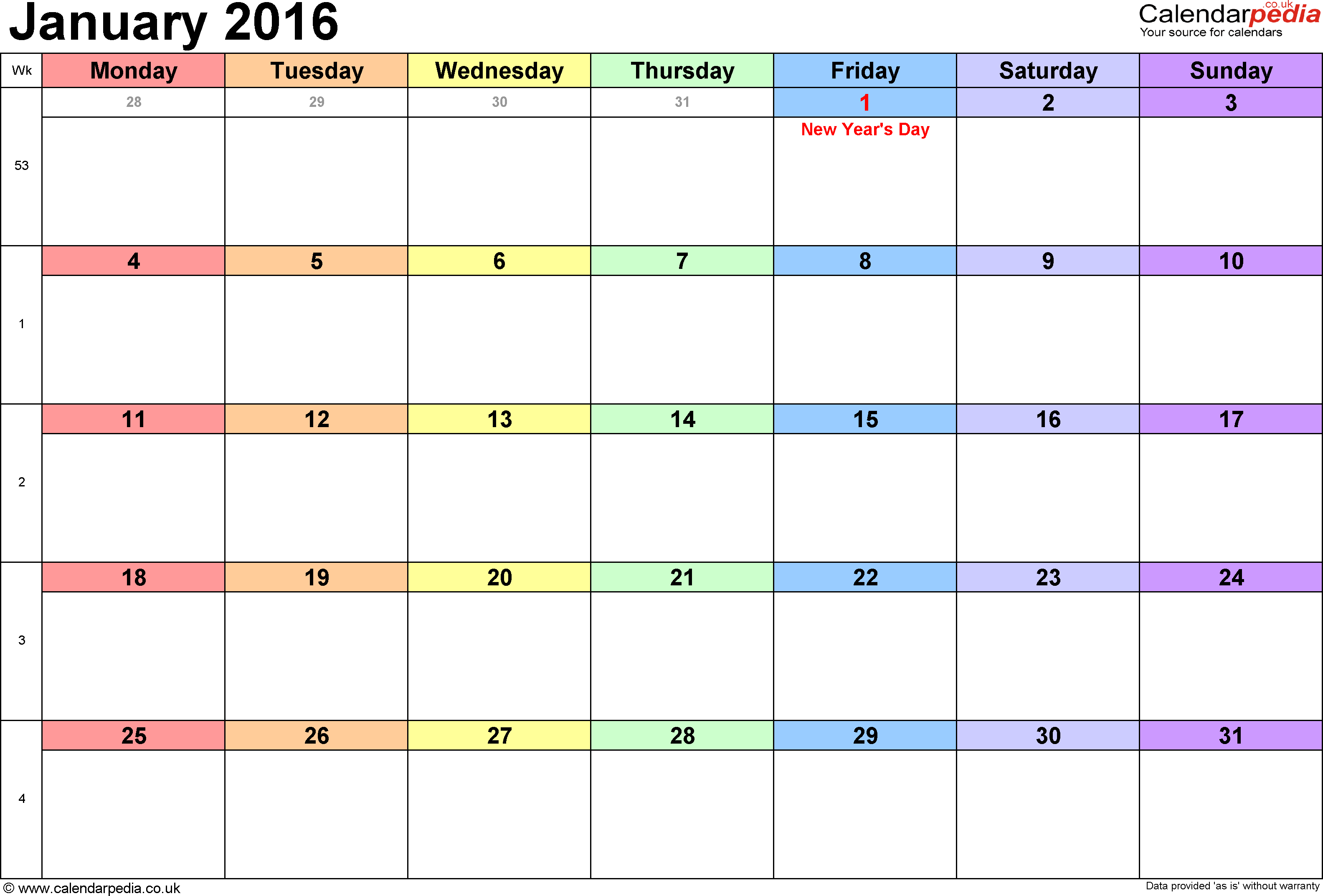 The New Calendar Starts Tomorrow Maureen Campion The